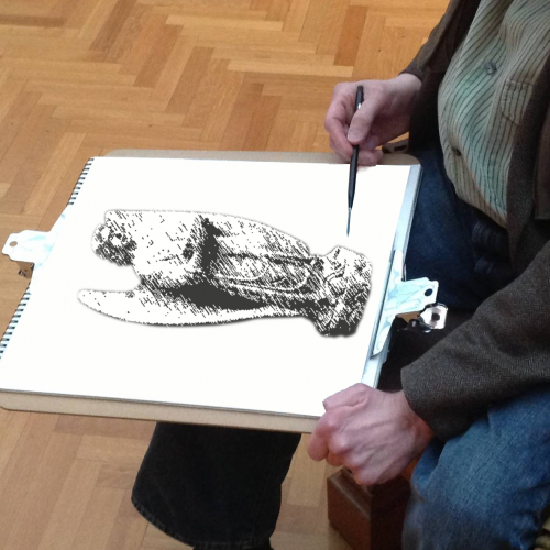 Hand drawn renderings and artist's sketches are produced for client approval.