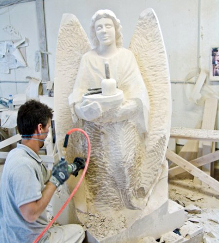 An accurate model from which the stone will be carved